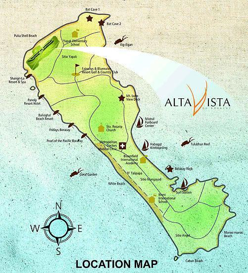 Alta Vista De Boracay DMCI Homes Location Map