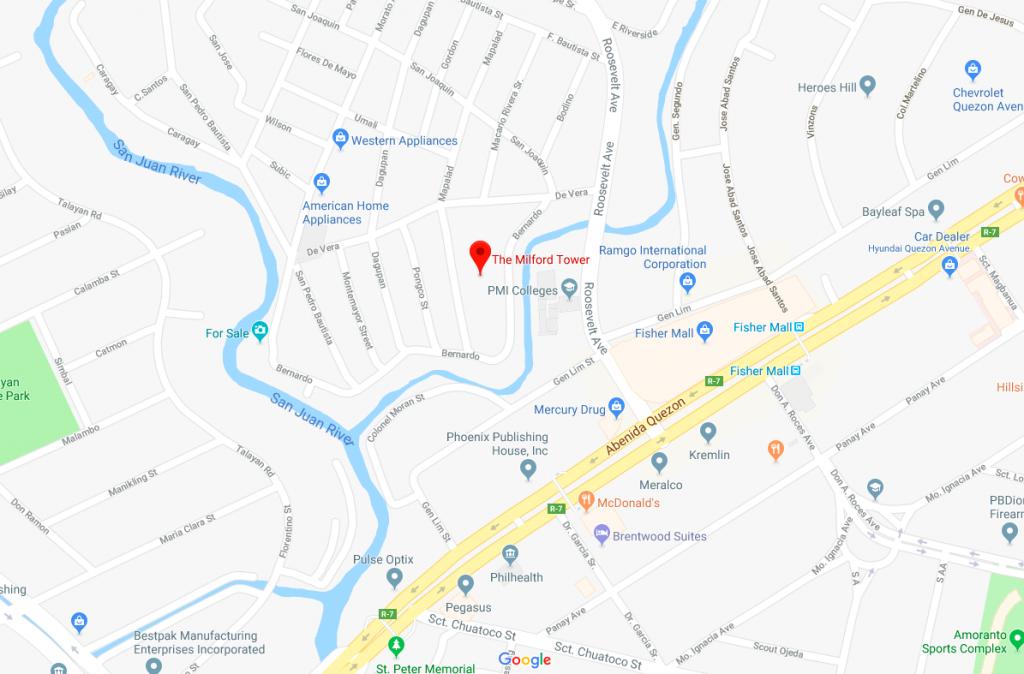 Milford Tower DMCI Quezon City Map